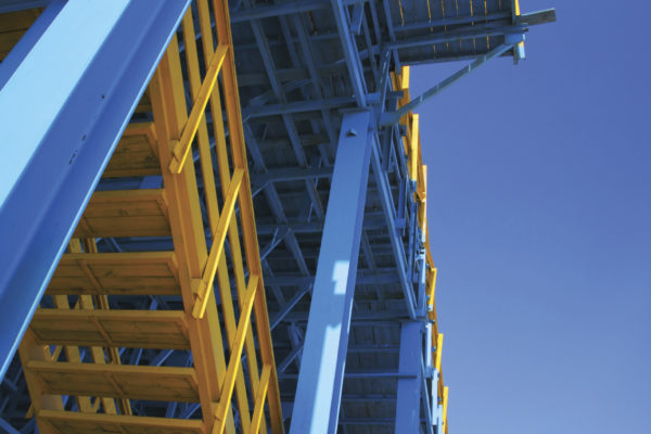 blue scaffold