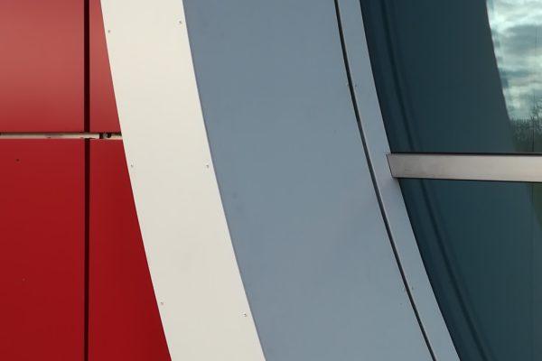 detail kazetovej fasády
