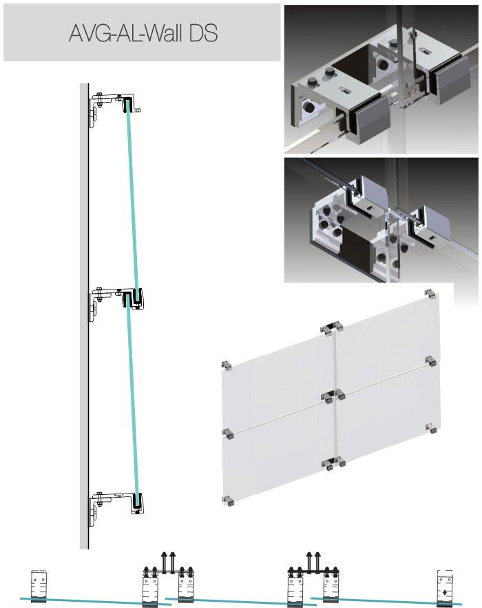 fasádny systém upevnenie hliníkových profilov