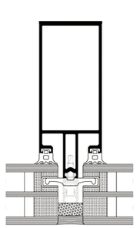 semištrukturálna fasáda