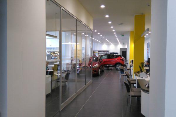 presklené deliace priečky Renault Dacia Praha