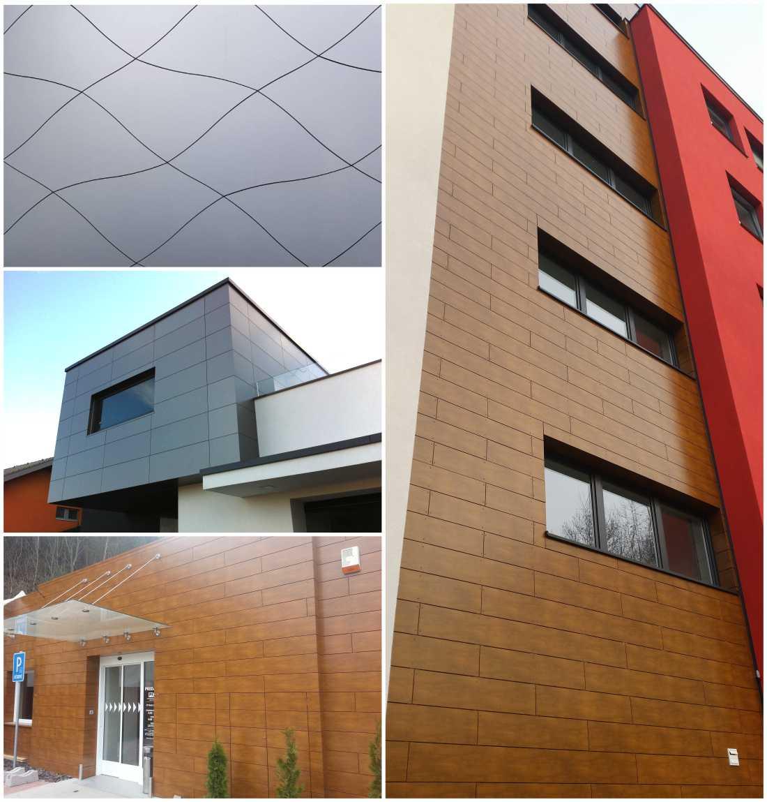 odvetrané panelové fasády