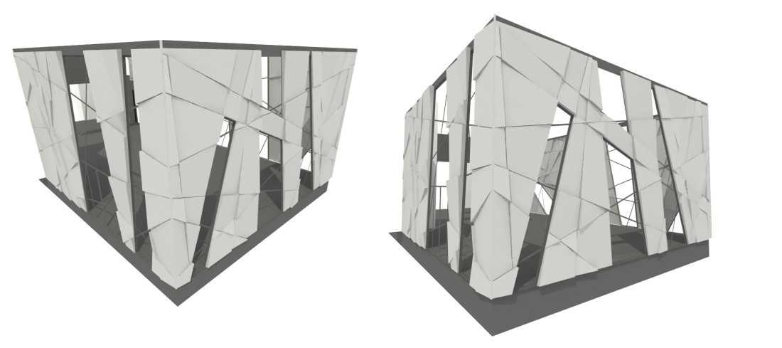 odvetrané fasády priestorové