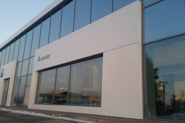 odvetraná fasáda ARAVER