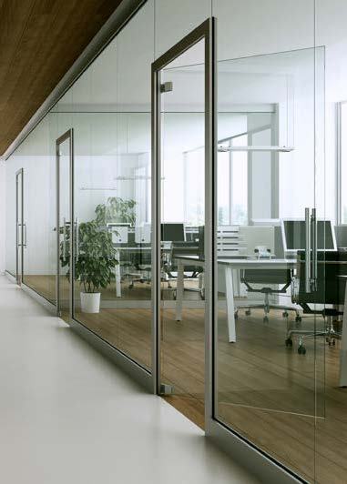 presklené systémy interiérových deliacich stien
