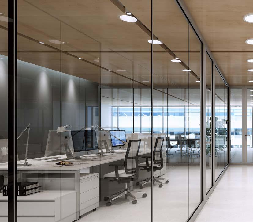 presklené interiérové steny