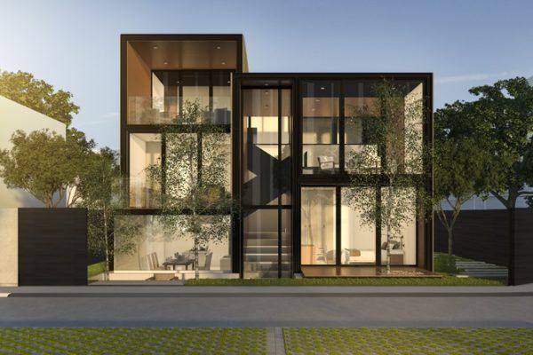 moderná budova render